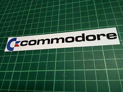 COMMODORE LOGO Vinyl Sticker Label (140mm x 20mm)  QTY:1