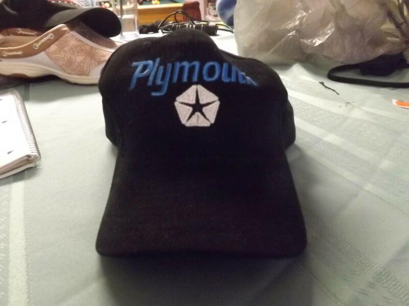 VINTAGE BASEBALL TYPE CAP-PLYMOUTH- BLACK