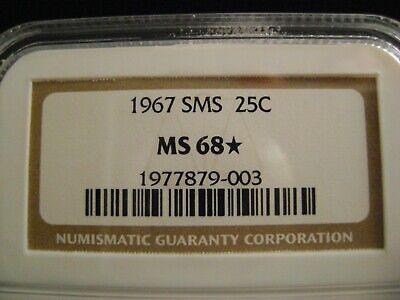 1967 SMS Washington Quarter, NGC MS68* (star)  for sale  Buhl