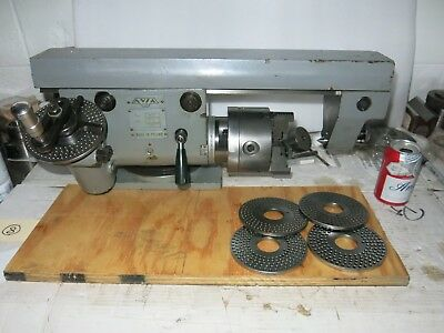 Avia Polish Dividing Head With Plates Tailstock Excellent-deckel Style