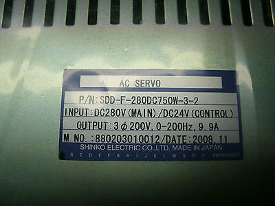 Shinko Ac Servo Drive Sdd-f-280dc750w-3-2 New Not In Box