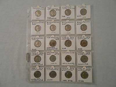 SALE!Coins:WashingtonQuartersCoinCollection: 20Coins: 1Coin: 1987-D Uncirculated