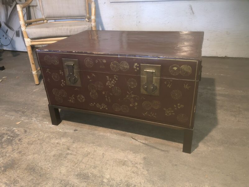 Chinese Trunk In Stand