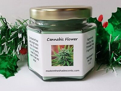 Cannabis Flower Scented Candle, hippie candle, marijuana weed candle, gift idea