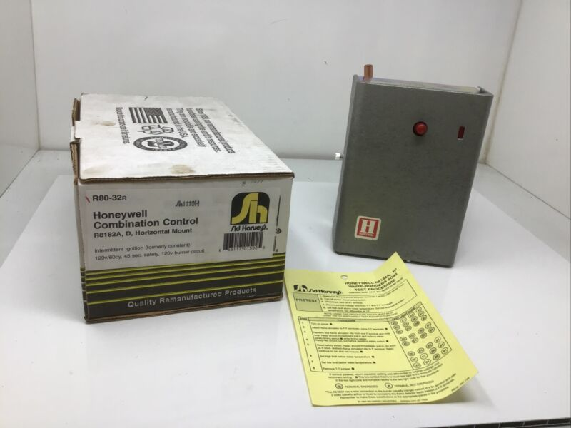 Honeywell R8182A R8182D Aquastat  Protector Relay Sid Harvey R80-32R