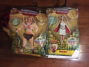HE-MAN  AND SHE-RA COSTUMES