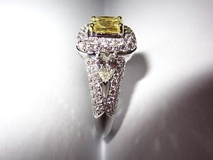 ENGAGEMENT RING - YELLOW & WHITE DIAMOND FANCY CLUSTER Pasadena Mitcham Area Preview