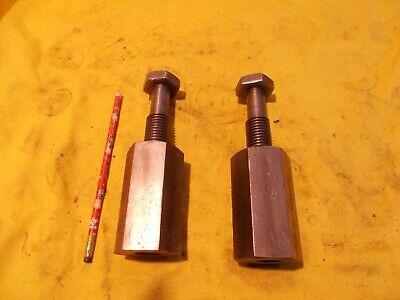 Pair Of Planer Jacks Stock Leveling Screws Mill Table Work Holder Tools