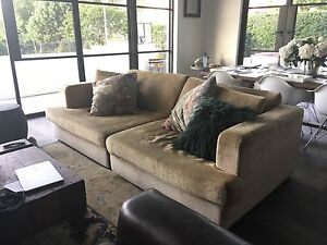 Coco Republic tan coloured couch/ sofa Bellevue Hill Eastern Suburbs Preview