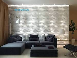 Ecofriendly, paintable, 32sqft DIY 3D panels, glue on wall tiles Tarneit Wyndham Area Preview