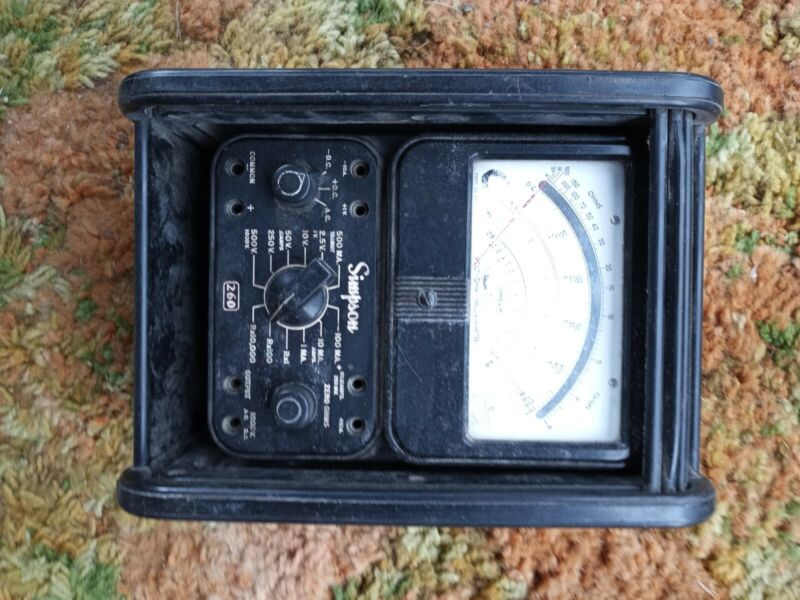 Simpson 00248 Roll Top Case and a parts-only Simpson 260 meter