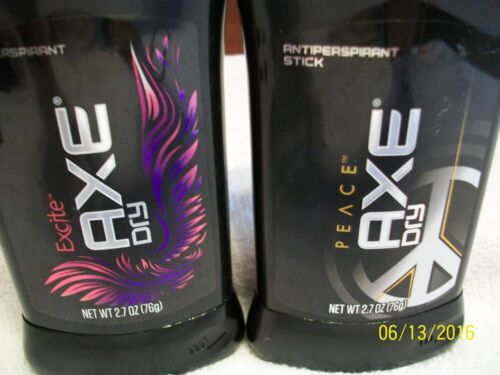 AXE EXCITE DRY ANTIPERSPIRANT STICK  & AXE PEACE D ANTIPERSPIRANT  STICK