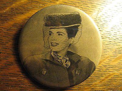 40's Fashion Pin - RePurposed Vintage 1946 Womens Hat Advertisement Lapel Button