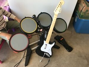 XBOX360 band drum and guitar