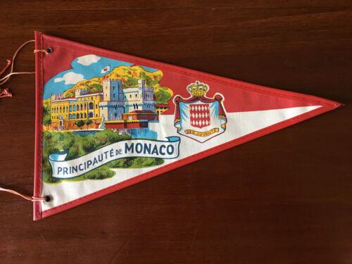 Vintage European travel Pennants/Flags Principaulte De Monarco