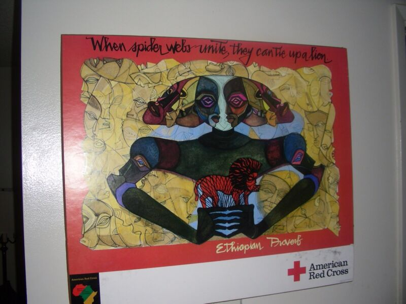 Mounted American Red Cross HIV/Aids Awareness Poster by Damballah Dolphus Smith