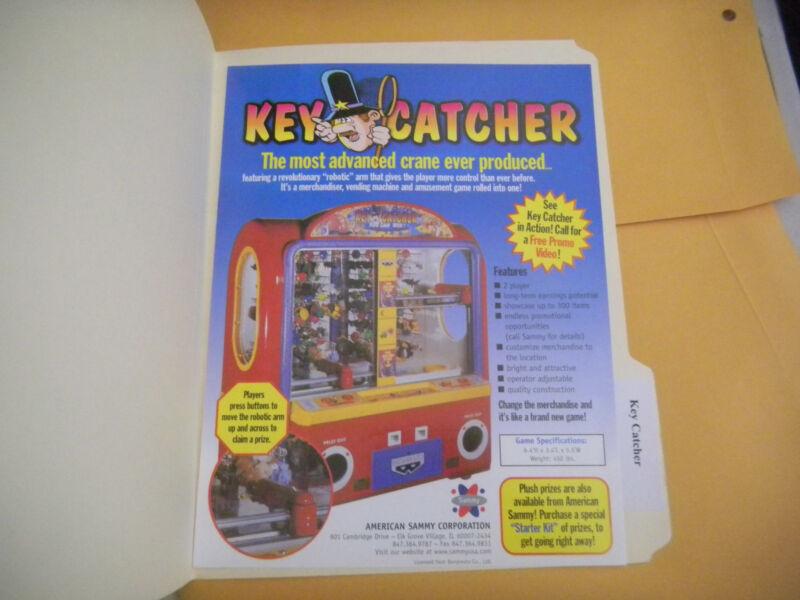 KEY CATCHER  TWIN    ARCADE   GAME  FLYER