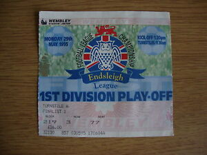 1995 Bolton v Reading - 1st Division Play Off Final @ Wembley - Used Ticket