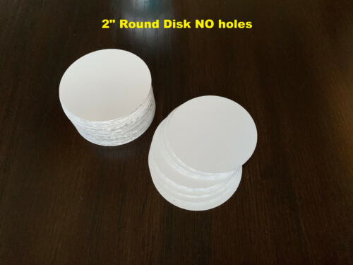 "2"" Round Insert Sublimation Aluminum Blank Disc- Lot of 50PCs"