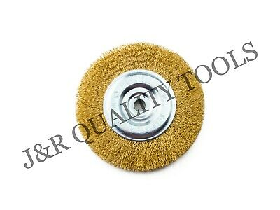 6 Wire Wheel Brush Fits Bench Grinders With 12 Arbor Rust Removal