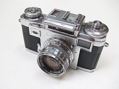 ZEISS IKON CONTAX 111A RANGEFINDER + f2 OPTON SONNAR + CASE. COLOURED DIAL