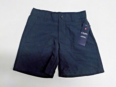 Boys Size 5 Chaps Navy Moisture Wicking Uniform Short New Nwt  #12614