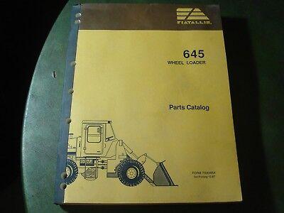 Fiat Allis 645 Wheel Loader Parts Catalog Manual