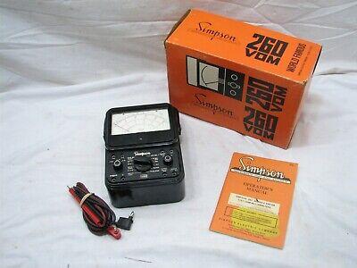 Simpson 260 Series 6 Vom Multimeter Wbox Volts-ohm Test Tool Multi Meter