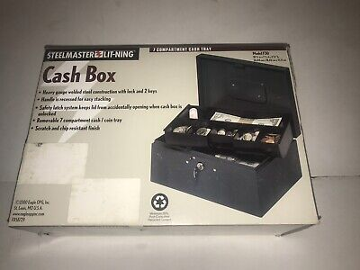 Steelmaster Cash Box With Safety Latch And Recessed Handle 221f30gra