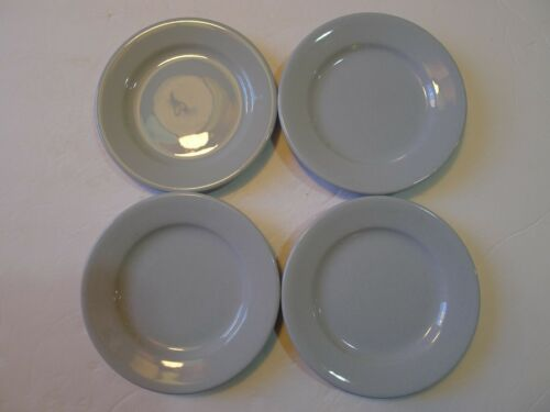 "Vintage Buffalo China Blue Lune 6-3/8"" Dessert Plates Set of 4"