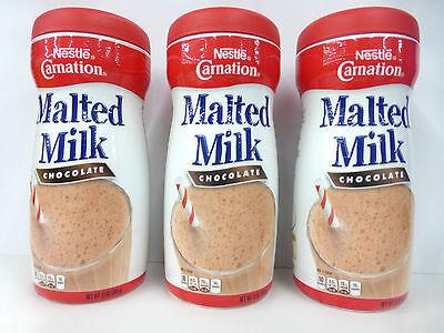 3 Nestle CARNATION MALTED MILK CHOCOLATE