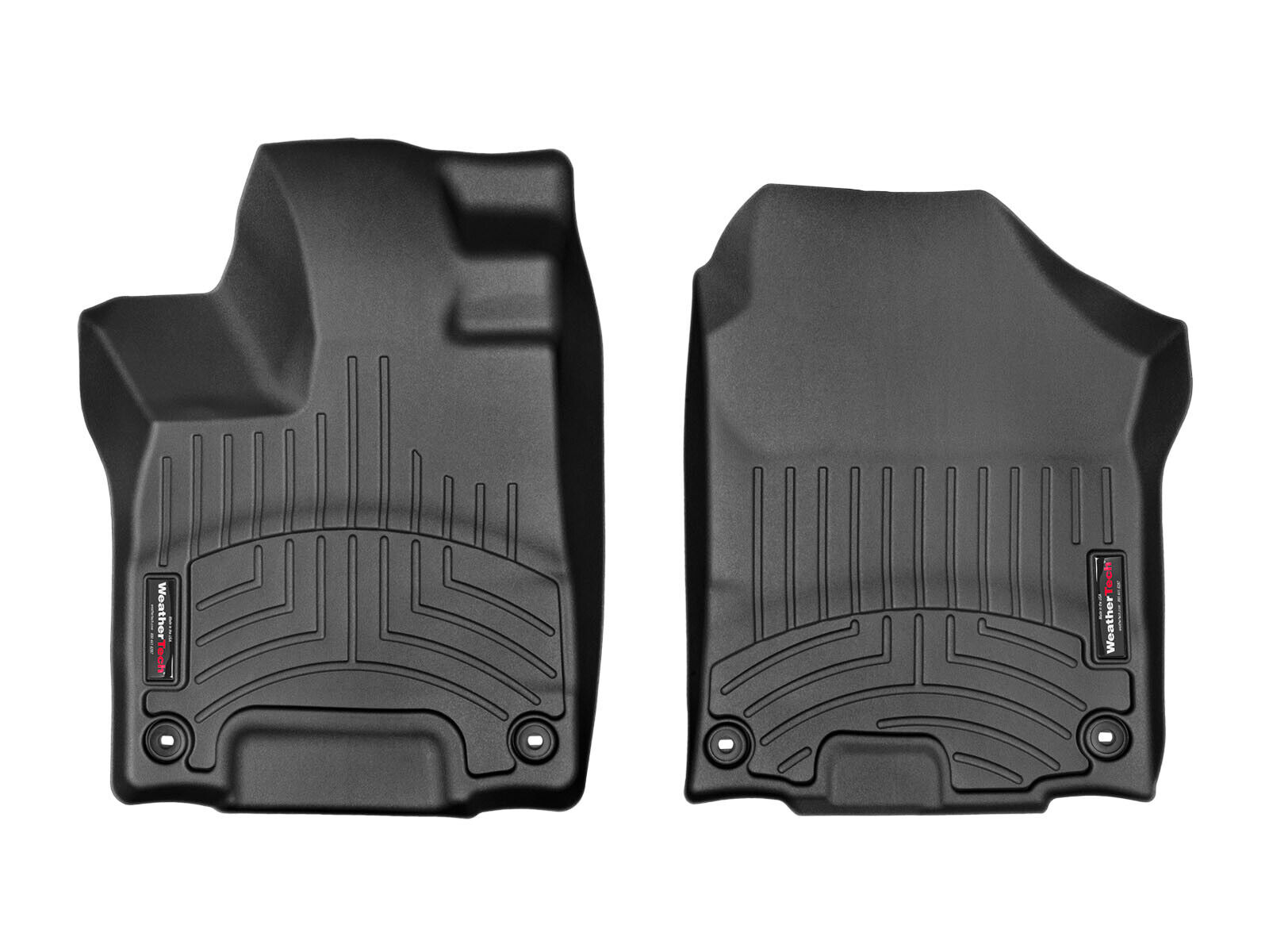 Black WeatherTech Custom Fit Front FloorLiner for Honda Pilot