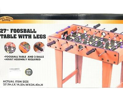 Foosball Game 27 Inch Table Top with Legs Professional Soccer Competition -