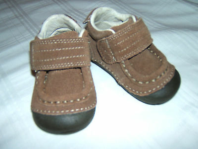 Stride Rite Shoes Baby Boy 3M 3W SRT SM DARWIN Brown Leather 3 M MED W WIDE NEW