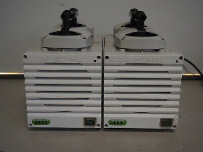 Lot Of 2 Buchi V-500 Diaphragm Vacuum Pumps 25mbar As Is Run Loud