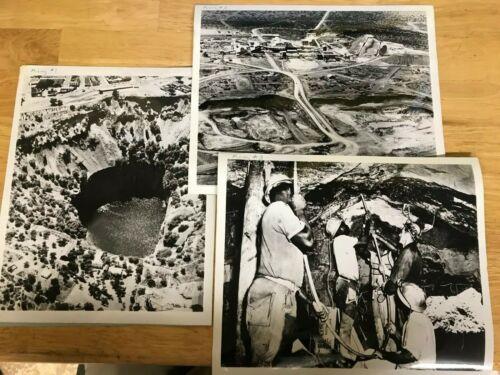 RARE Vintage N.W. Ayer & Son DeBeers Advertising Photos-Diamond Mining & Cutting