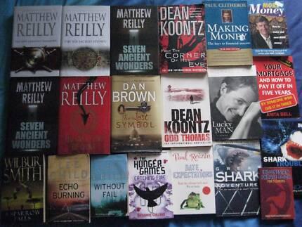 Books - Lee Childs, Mathew Reilly, Dean Koontz, Wilbur Smith