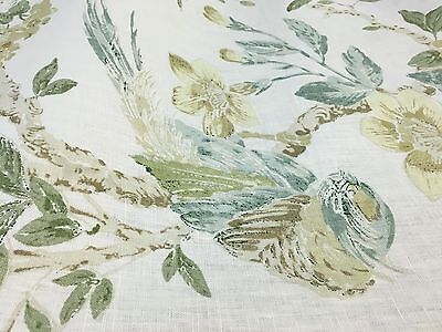 Lee Jofa designer floral home decor fabric 100% linen BTY by the yard Tresillian