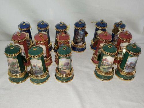 16x Thomas Kinkade - Seaside Reflections Porcelain Heirloom Ornament Collection