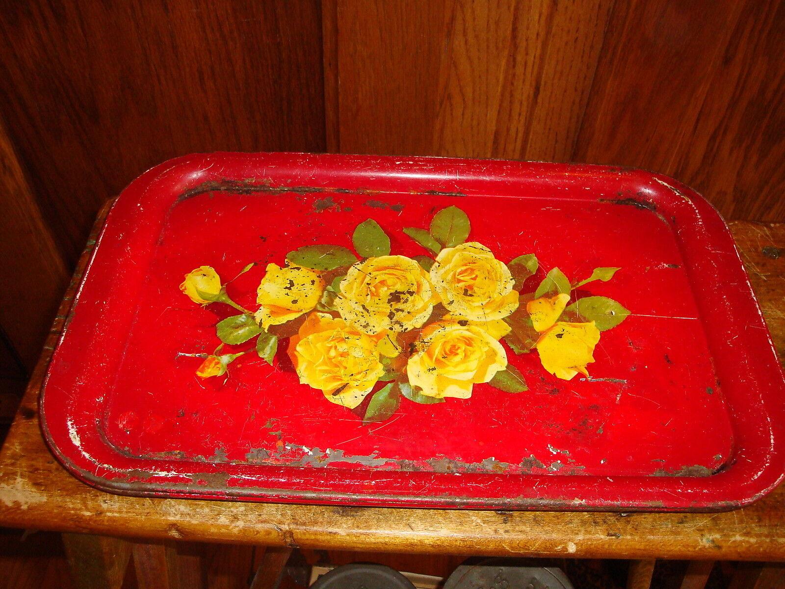 Vintage metal seving trays