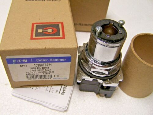 NEW CUTLER HAMMER 10250T6221 ILLUMINATED SELECTOR SWITCH 2 POS MAINTAINED 24V