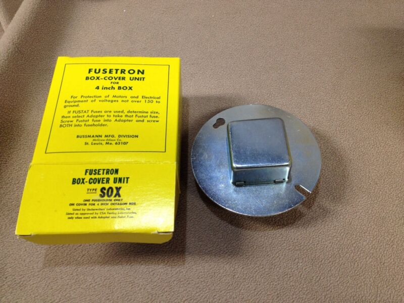 """Fusetron Type SOX Box-Cover Unit for 4"""" Octogon Box 1 Fuseholder"""