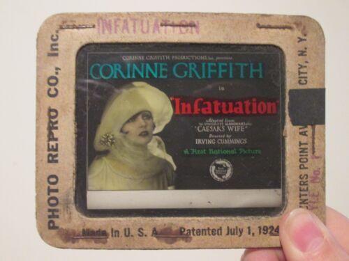 Infatuation   -Original 1925  Movie Glass Slide- Warner Oland - Corinne Griffith