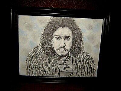 Game of Thrones JON SNOW Kit Harington 15 x11 inches ORIGINAL ART BEAUTIFUL!