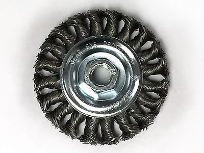 4 Knot Wheel Wire Brush - Carbon Steel Wire