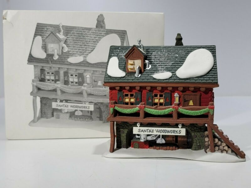 Dept 56 North Pole Lighted Building SANTA