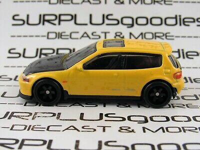 Hot Wheels 1:64 LOOSE 2020 Fast & Furious: Yellow HONDA CIVIC EG w/Real Riders