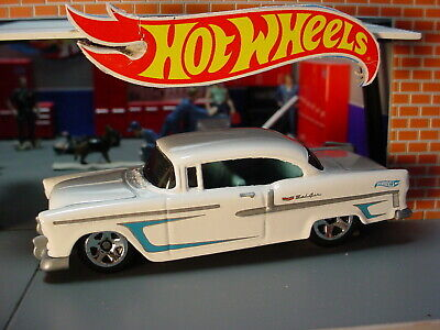 ''55 CHEVY BEL AIR ✿ white; blue☆Multi Pack Exclusive?☆2020 Hot Wheels LOOSE