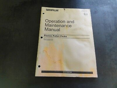 Caterpillar Cat Fusion Pallet Forks Operation And Maintenance Manual