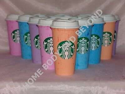 STARBUCKS Reusable Grande 16 OZ Plastic Coffee Tea Hot Cup Mug You Choose Color